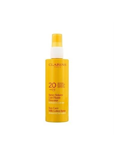 Clarins Clarins Sun Care Milk Lotion Spray Uvb/A Spf 20 Güneş Koruyucu Bitkisel Vücut Losyonu 150 Ml Renkli